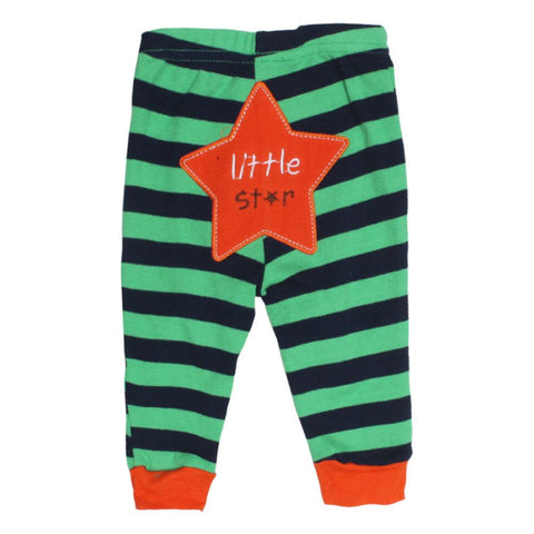 CARTER Little Star Embroidery Blue And Green Unisex Cotton Trouser 2 Piece Bundle