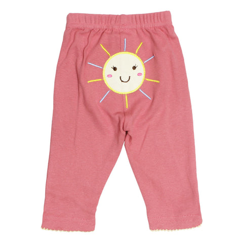 CARTER Star Cake Embroidery Pink Cotton Girls Trouser Bundle