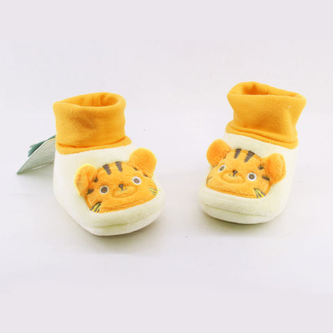 CHUBBY UHAA Yellow Woolen Unisex Soft Sole Shoes