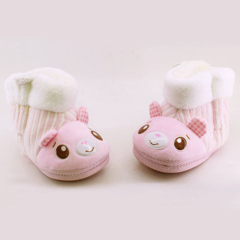 CHUBBY UHAA Pink Flexible Rubber Sole Winter Boots