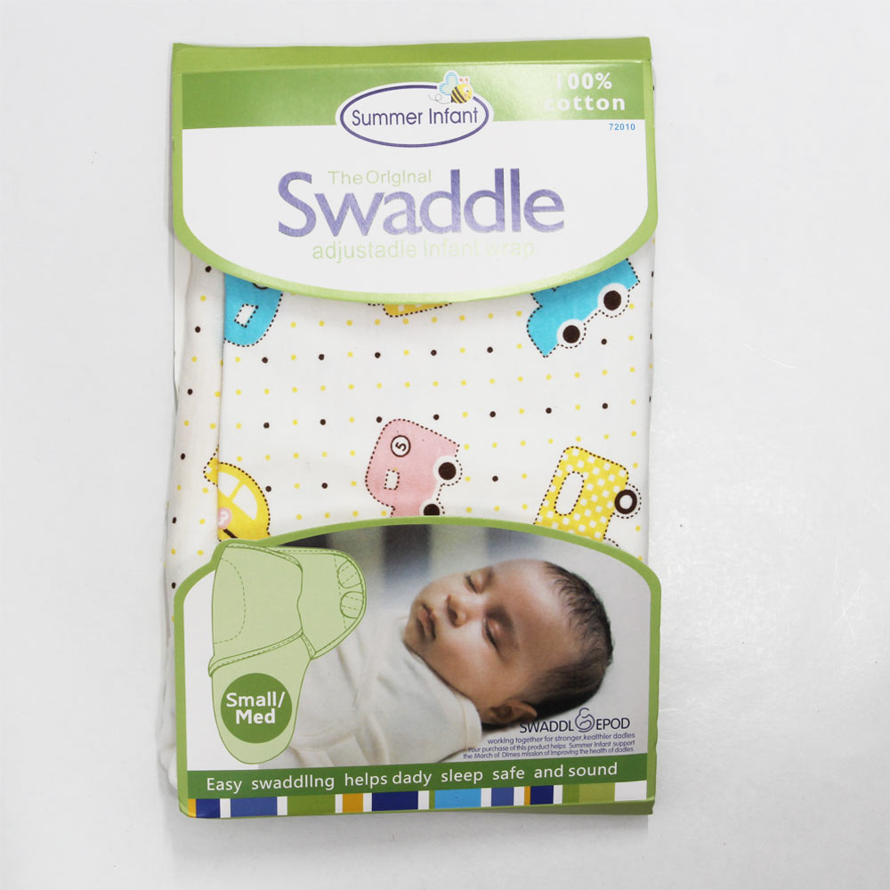 SUMMER INFANT Cars Print Adjustable Infant Wrap Cotton Swaddle