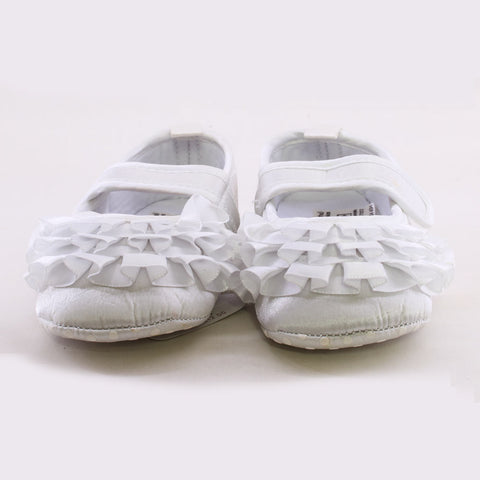 Mother Care Girls White Pre Walker Shoes