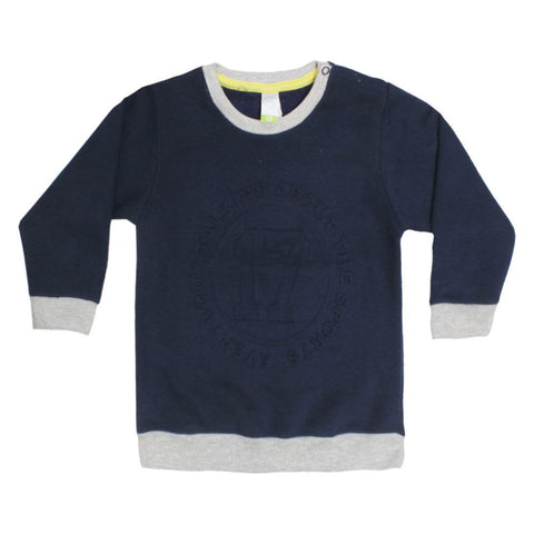 DISNEY Talking About Blue Boys Cotton Fleece Sweat Shirt
