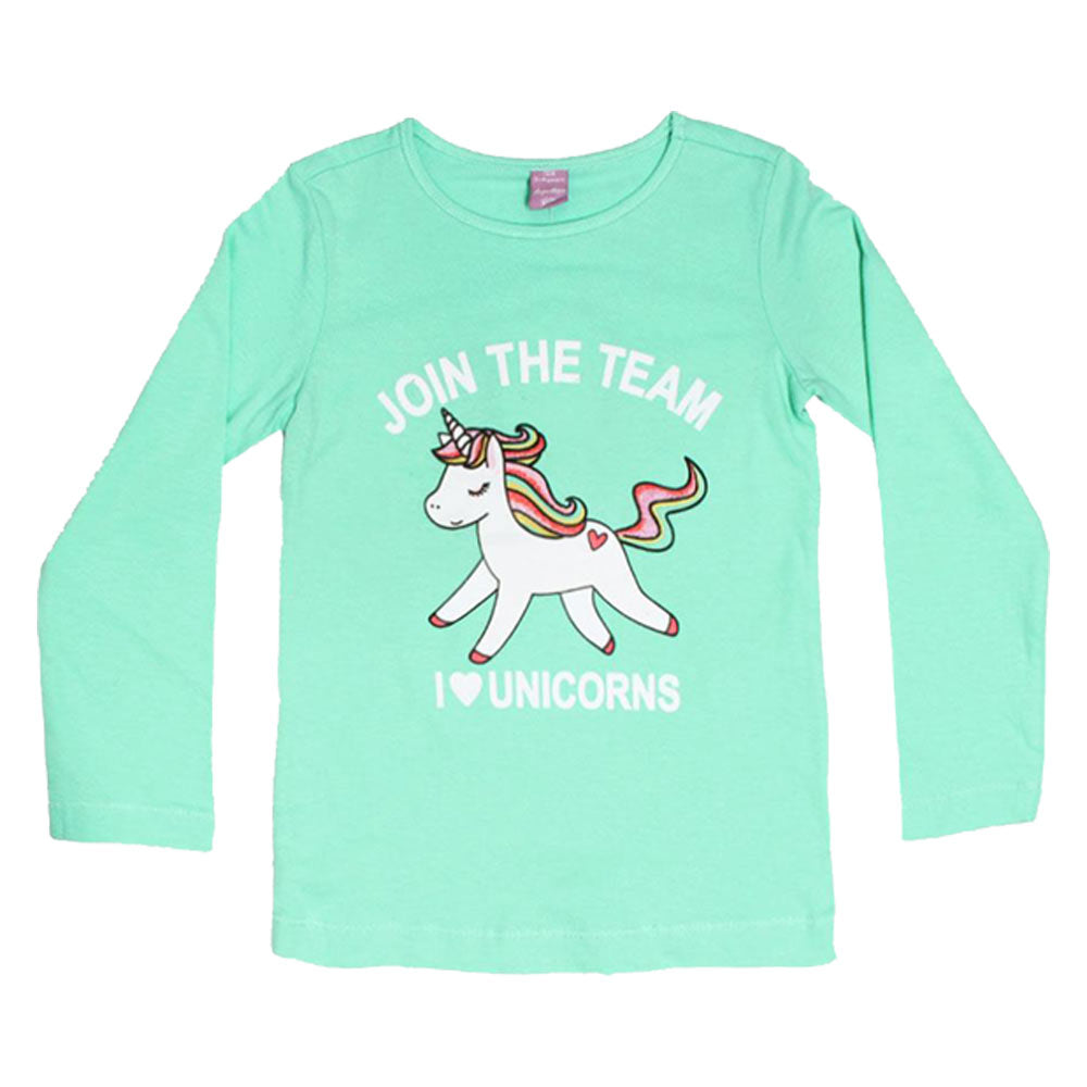 DOPO DOPO Unicorn Green Girls Premium Cotton 2 Piece Set
