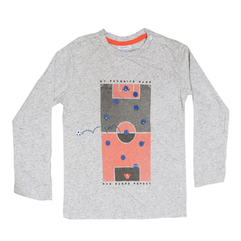 FAGOTTINO Game Print Grey Boys Premium Cotton Tshirt