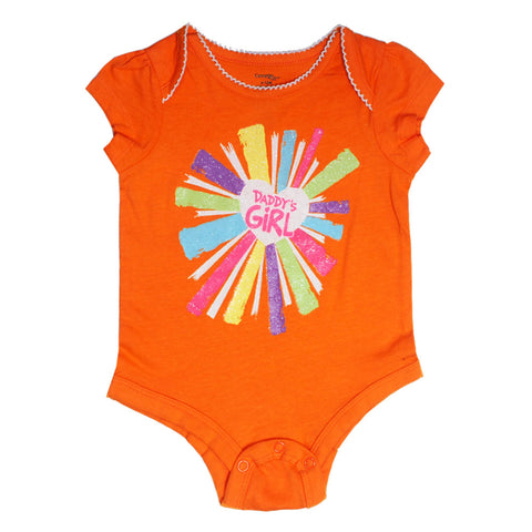 George baby orange romper
