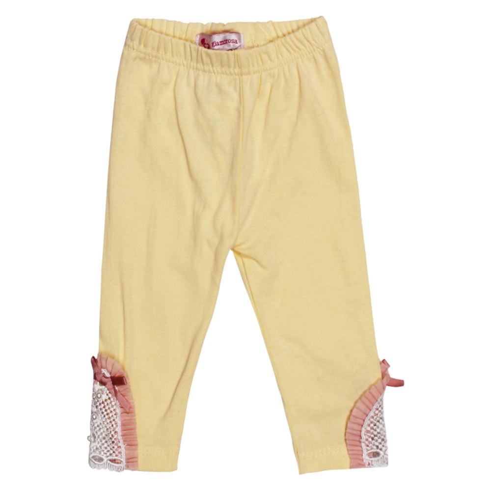 GIA MOROSA Bow Yellow Girls Cotton Legging