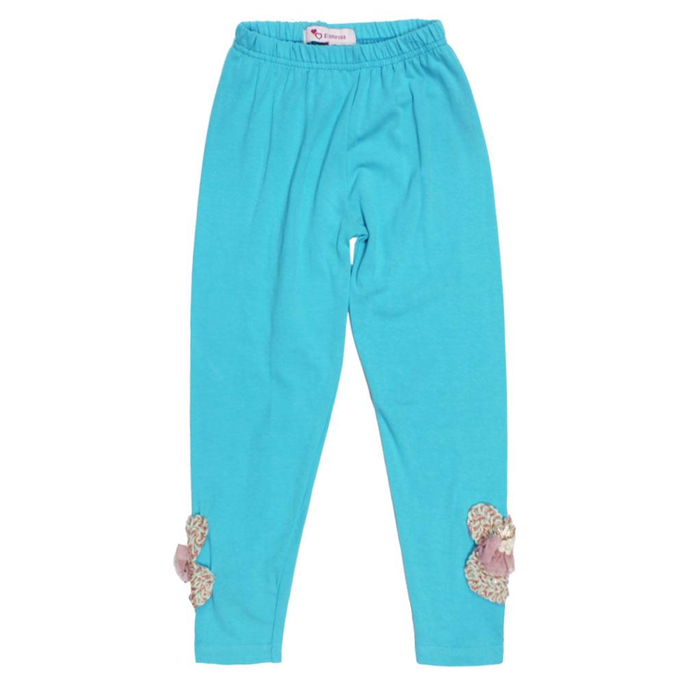 GIA MOROSA Crown Blue Girls Cotton Legging