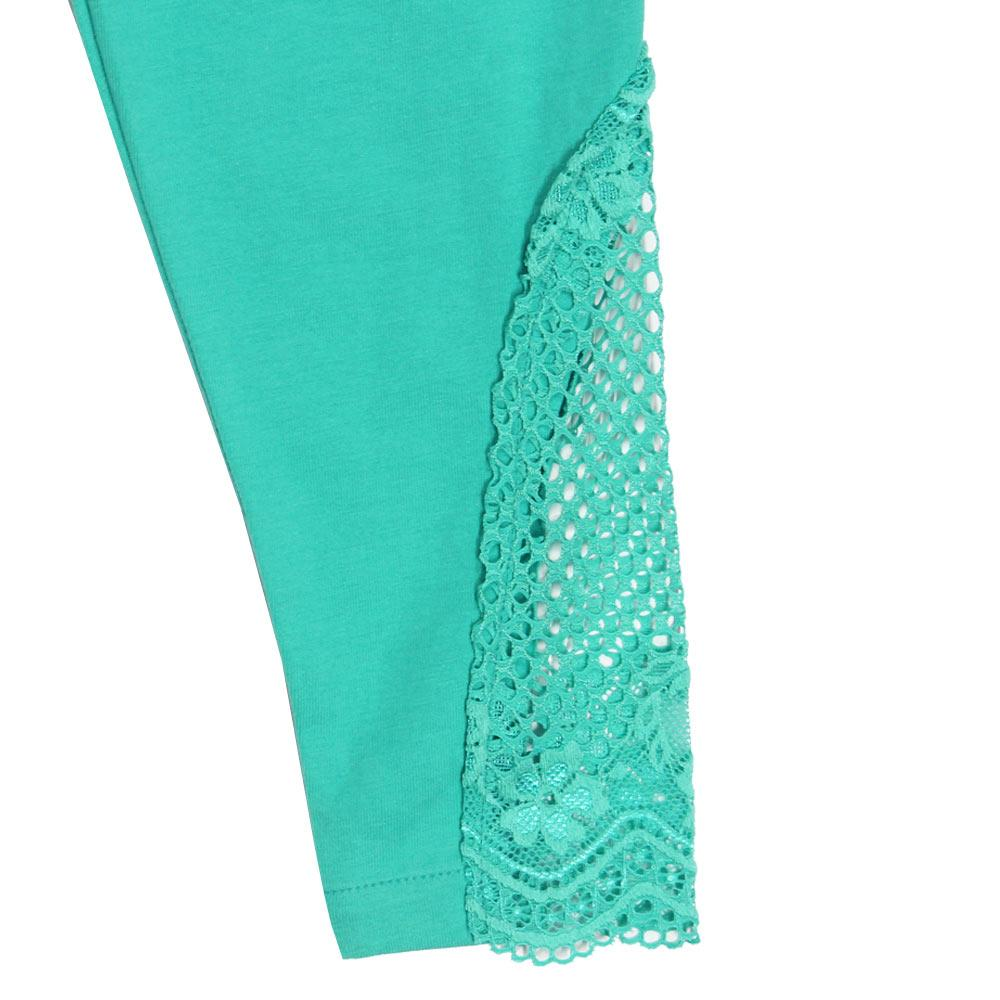 GIA MOROSA Lace Green Girls Cotton Legging