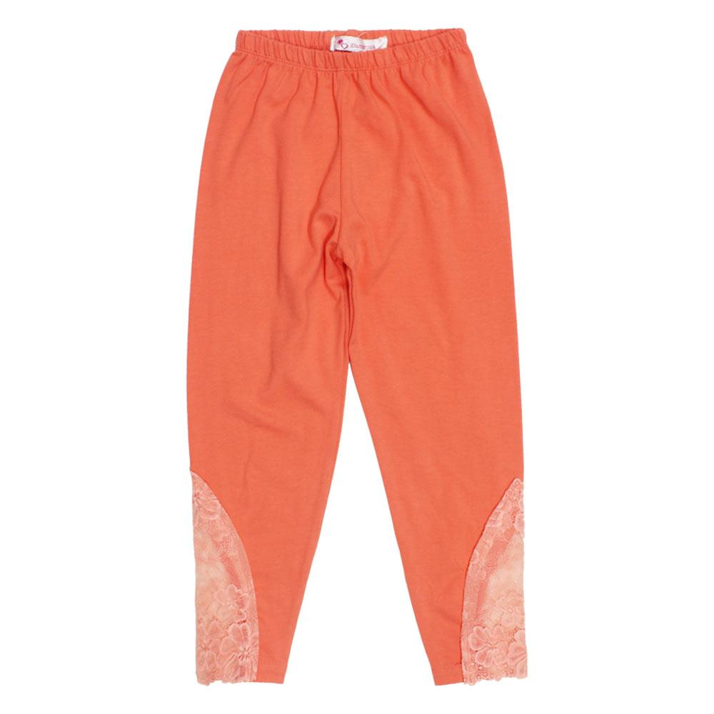 GIA MOROSA Lace Orange Girls Cotton Legging