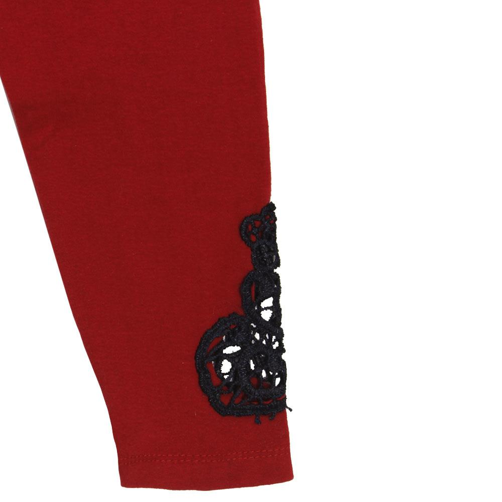 GIA MOROSA Lace Style Red Girls Cotton Legging