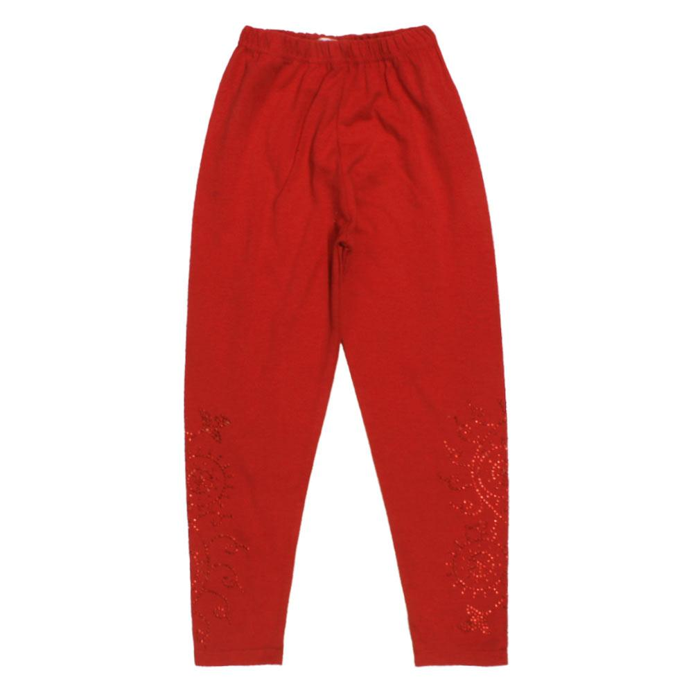 GIA MOROSA Nug Style Red Girls Cotton Legging