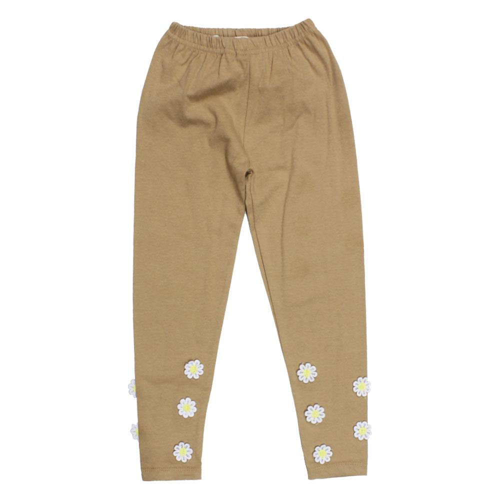 GIA MOROSA Sun Flower Brown Girls Cotton Legging