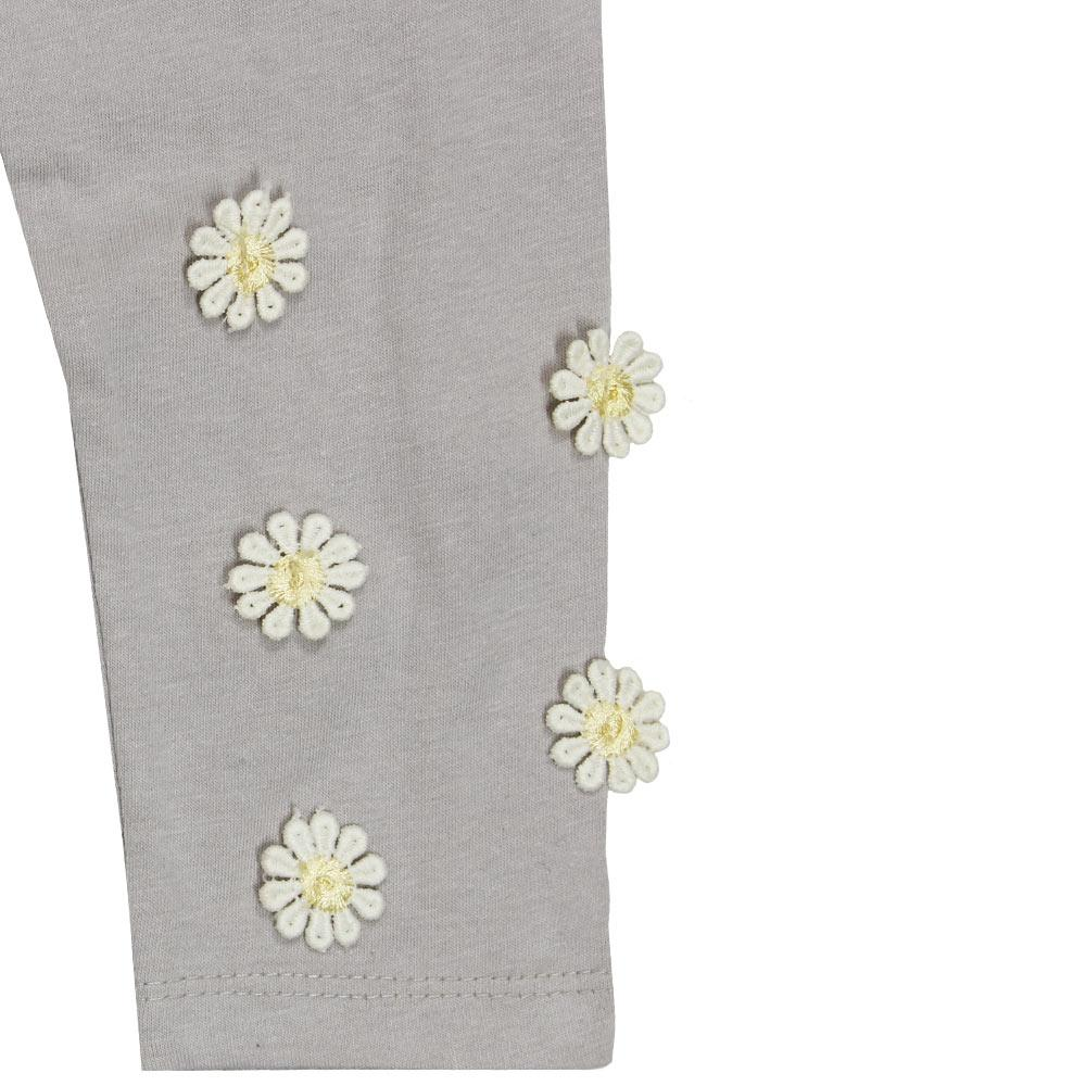 GIA MOROSA Sun Flower Grey Girls Cotton Legging