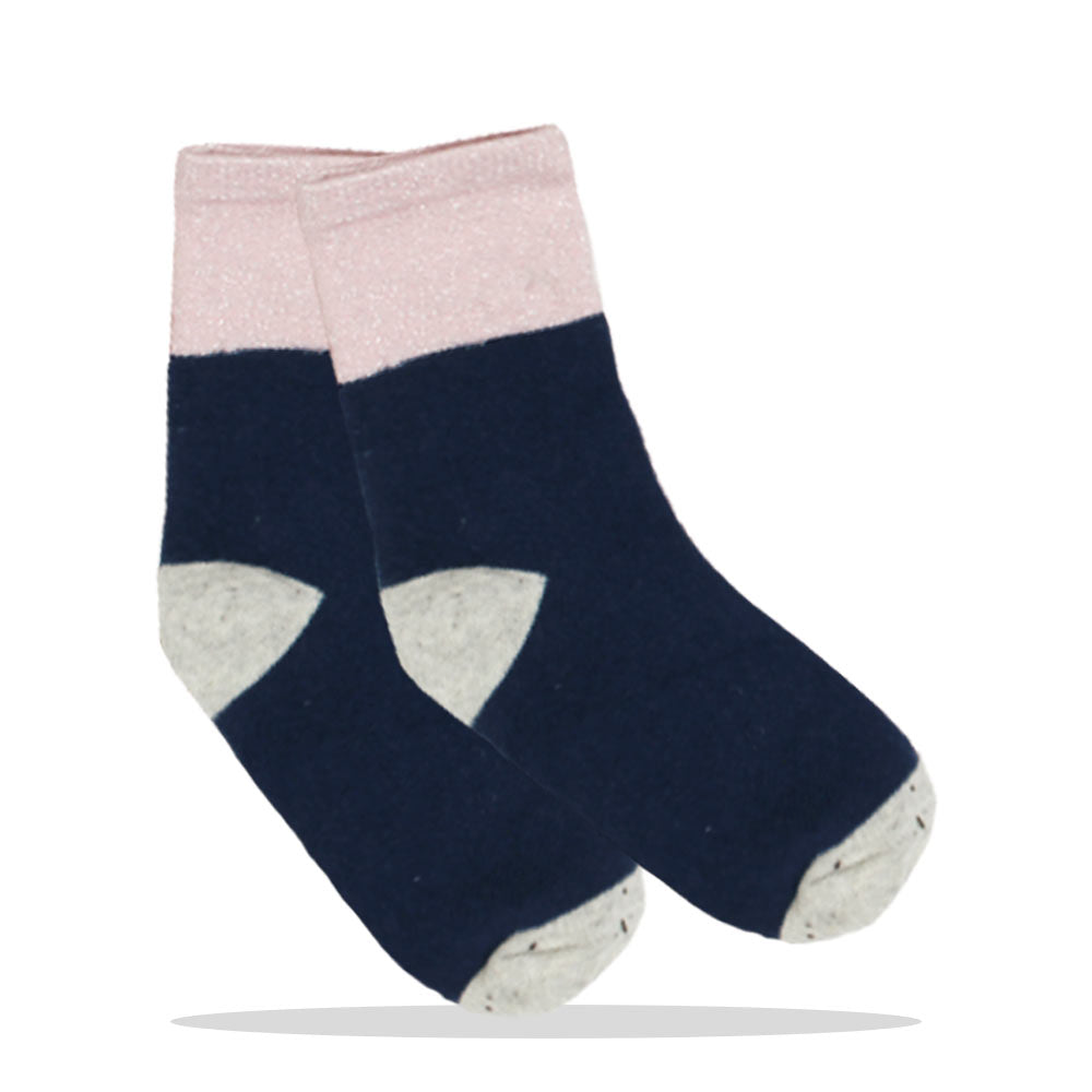 Glitter Pink And Blue Girls Cotton Socks