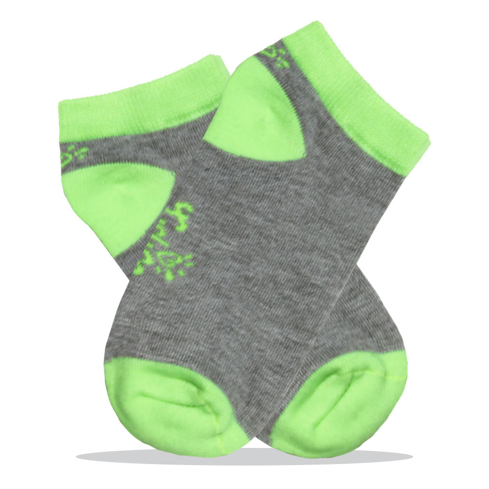 Green And Grey Boys Cotton Socks