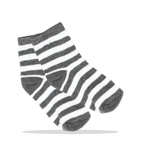 Grey And White Unisex Cotton Socks