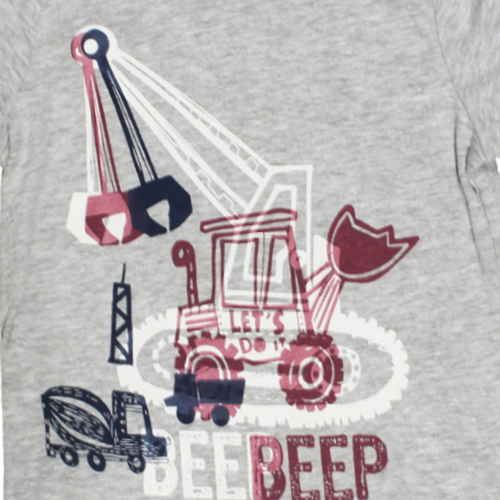 IN EXTENSO BeepBeep Truck Print Grey Boys Premium Cotton Tshirt