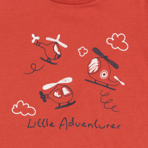 IN EXTENSO Little Adventure Red Unisex Premium Cotton Tshirt