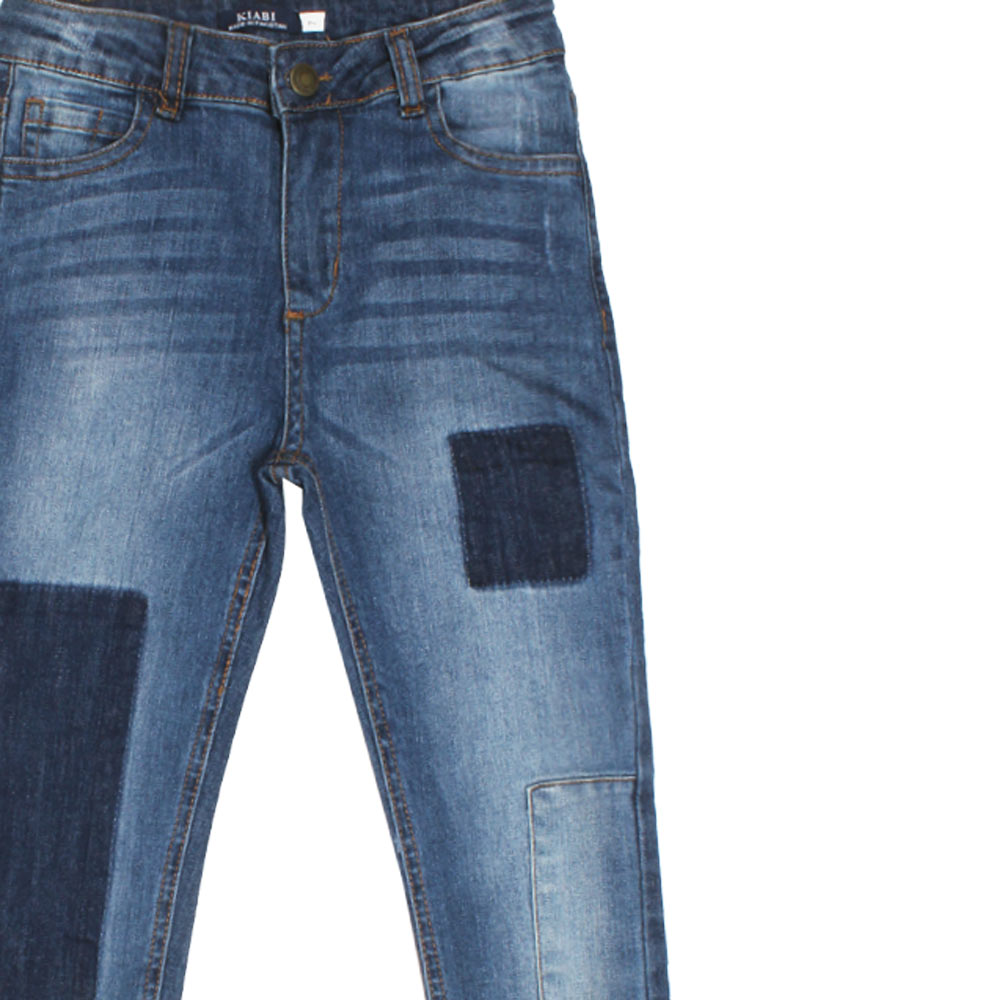 10b416a85459a STOP and GO Boys Dark Blue Slim Fit basic Sand Washed Denim Jeans ...