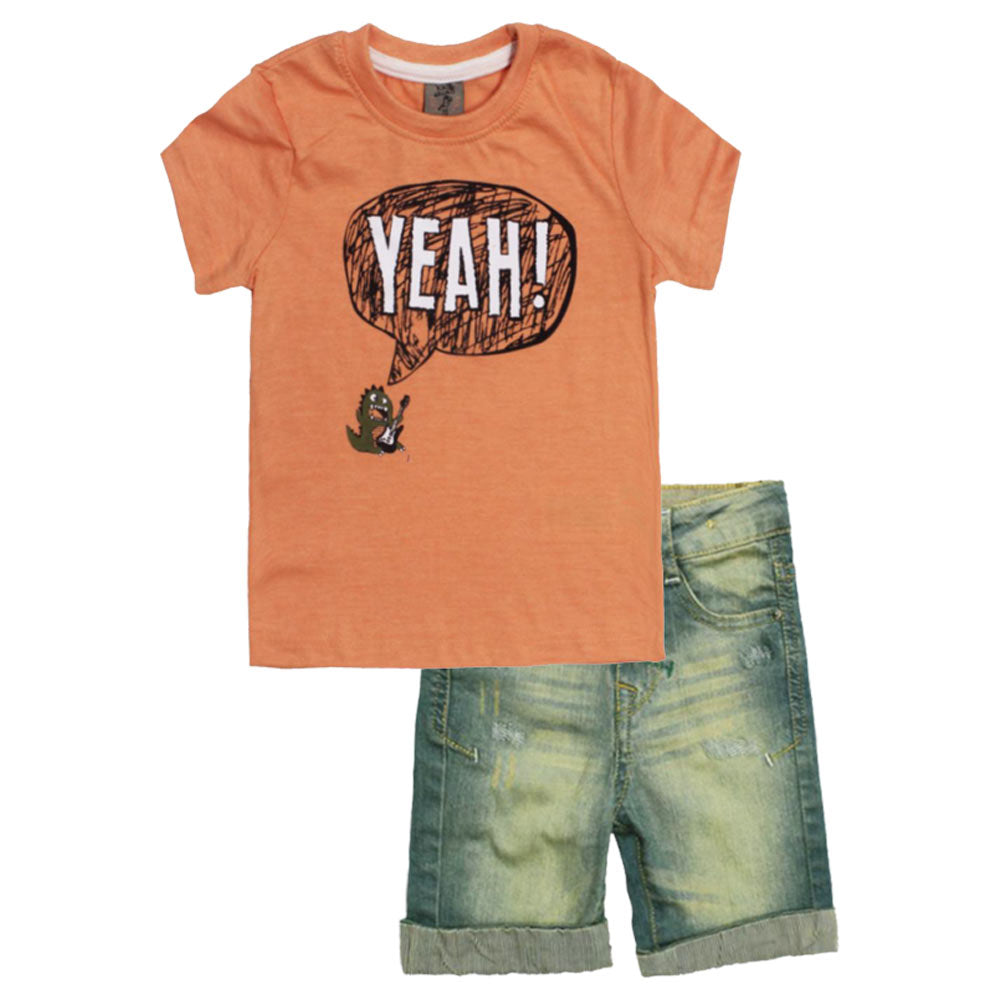 397f796f4c5 KIKI And KOKO Light Orange Boys Cotton 2 Piece Set – Globalstock