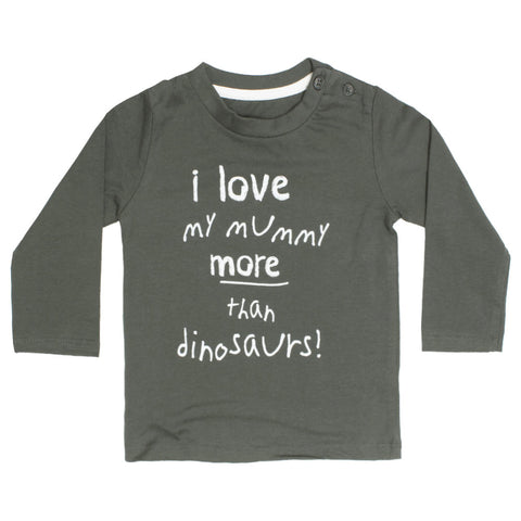 MATALAN I Love my Mummy Grey Boys Premium Cotton Tshirt