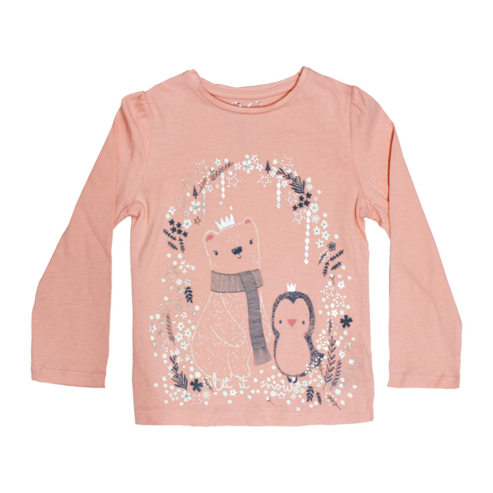 MOTHER CARE Bird Print Pink Girls Premium Cotton Tshirt