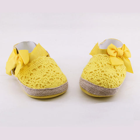 MOTHER CARE Yellow Girls Cotton Sandals