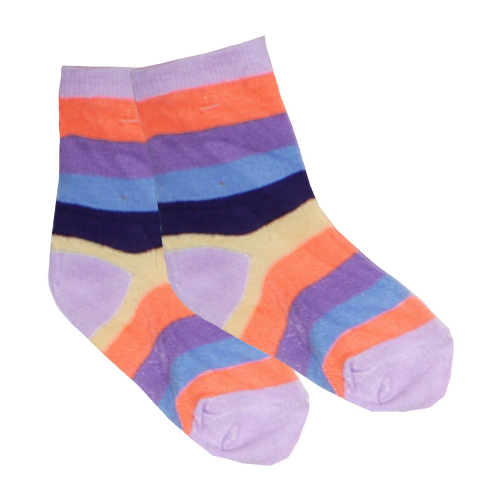 Multi Color Purple girls Socks