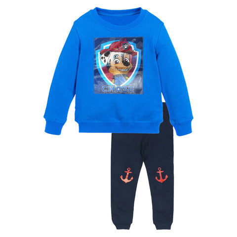 NICKELODEON Paw Blue Anchor Trouser Boys 2 Piece Set