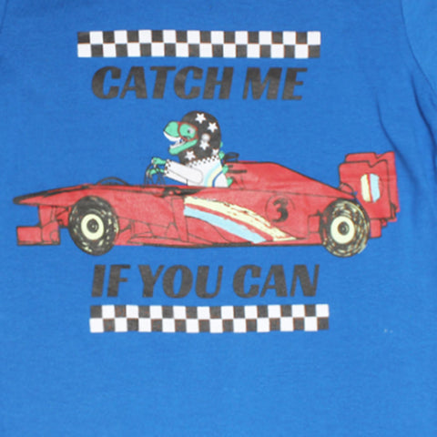 PEPCO Catch Me If You Can Blue Boys Premium Cotton Tshirt