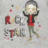 PEPCO Rock Star Girl Grey Girls Cotton Tshirt