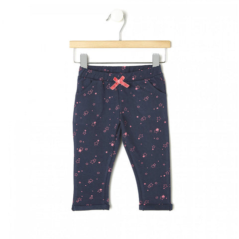 PRENATAL All Over Star Print Blue Girls Cotton Terry Trouser