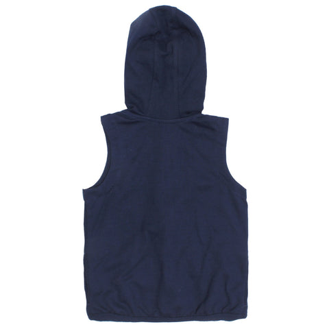 PUMA Blue Boys Tank Top Cotton Terry Hoodie