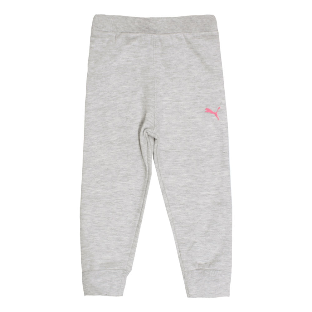 PUMA Pink And Grey Girls Cotton Fleece 2 Piece Set