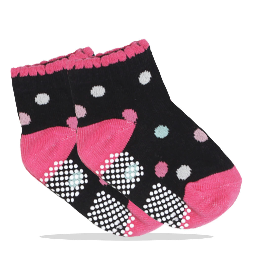 Polka Dots Pink And Black Girls Shocks