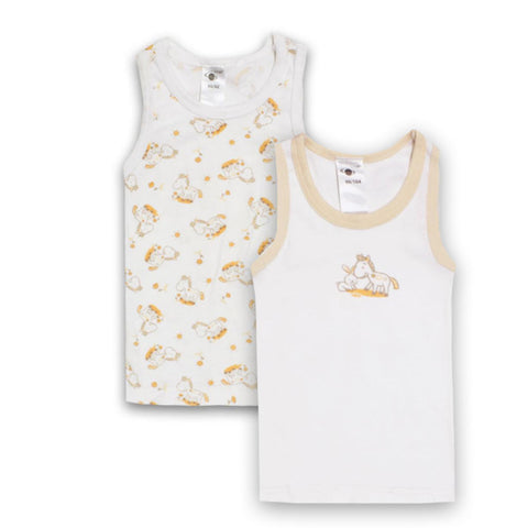 SATEX White Boys Cotton Tank Top 2 Piece Bundle