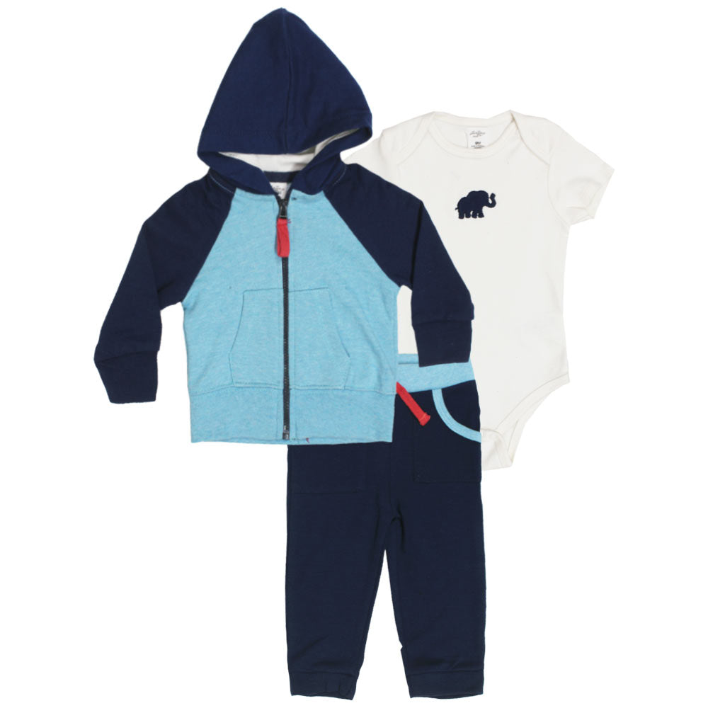 STARTING OUT Front Pocket Hoodie Cotton Terry Boys 3 Piece Sets