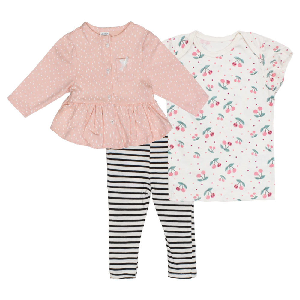 STARTING OUT All Over Star Print Girls Cotton 3 Piece Sets