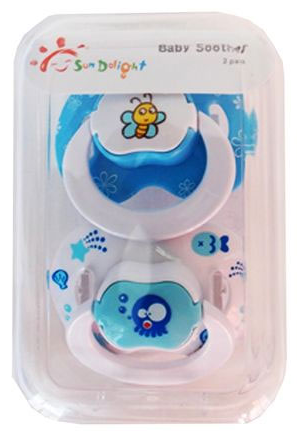 Sun Delight Pack of 2 Blue Color Baby Soother