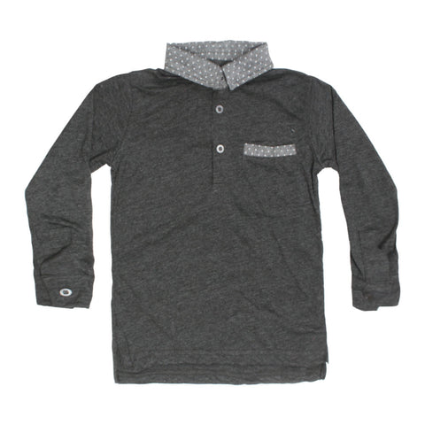 TU Front Pocket Grey Cotton Polo Tshirt