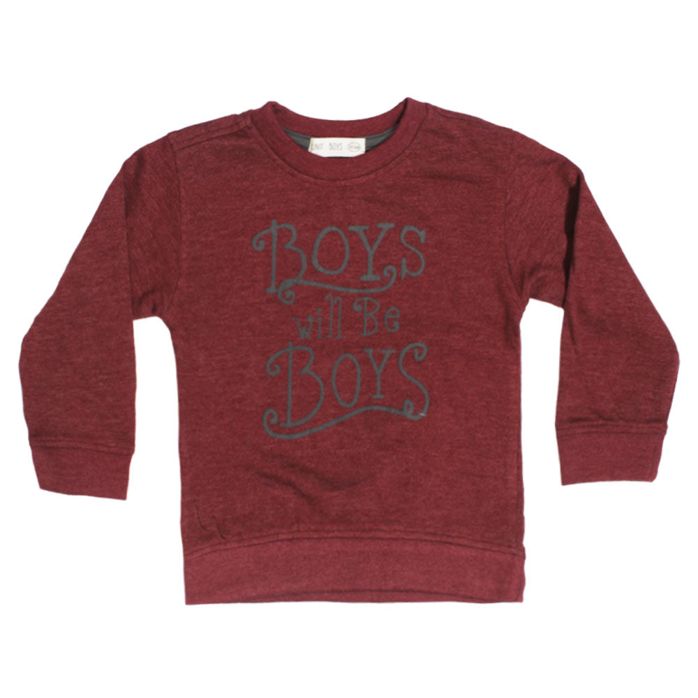 UNIT BOYS Maroon Cotton Fleece Sweat Shirt