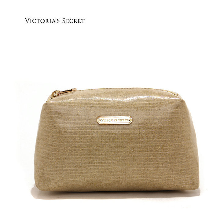 Victoria Secret Golden Cosmetic Bag