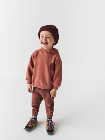 ZARA Maroon Boys Cotton Terry Trouser