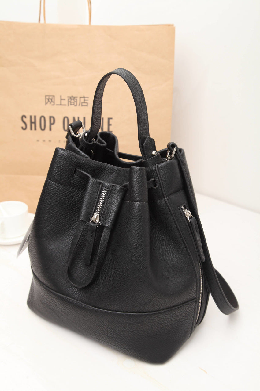 Zara Black String Shoulder Bag
