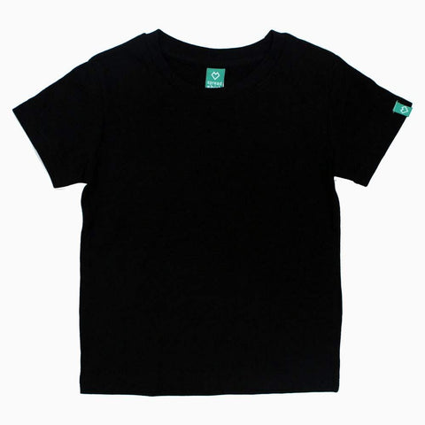 SPREAD SHIRT Ultra Soft Cotton Black Basic Boys Tshirt
