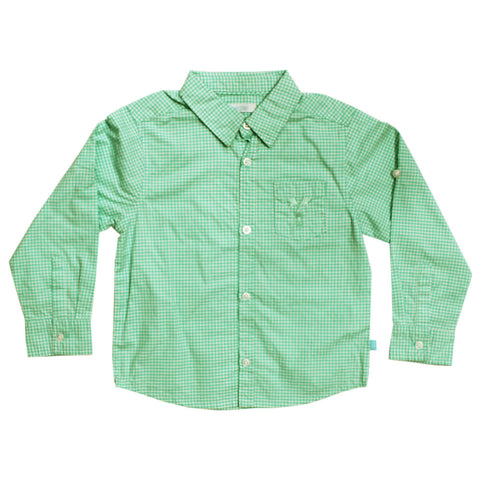 OBAIBI Green Checks Imported Cotton Casual Shirt