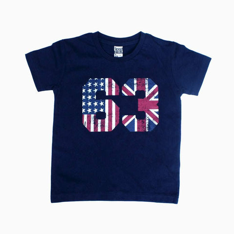 USA 63 print Navy blue boys Tshirt