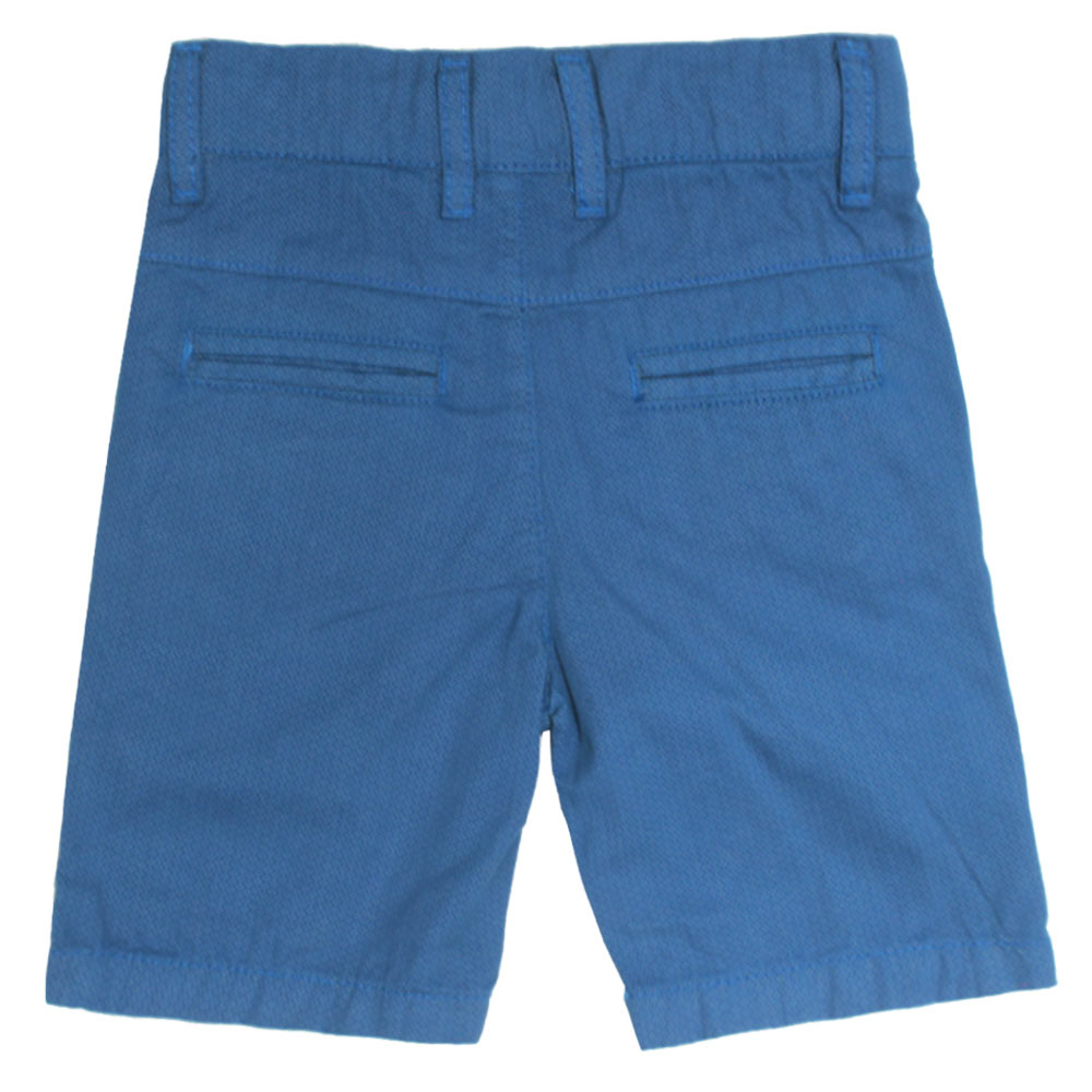 MITCH Printed Blue Boys Cotton Short