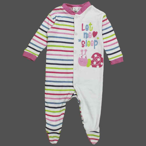 BABY CLUB Girls Let me Sleep Premium Cotton Sleep Suit